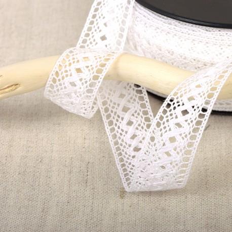 Insert lace with lattice pattern