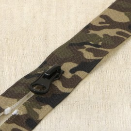 Zipper Military Print closed end