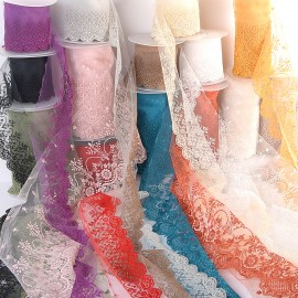 Flower lace tulle