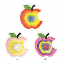 S Applikation Apfel, Mehrfabrig