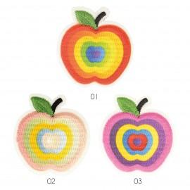 S Applikation Angebissene r Apfel,