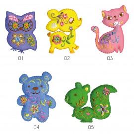M Animals felt & patterns