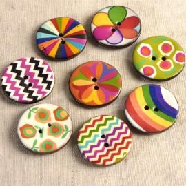 Decorated Coco button