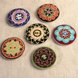 Bottone legno decorato
