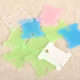 Tarjetas De Plastico Para Embobinar Hilos * 10pcs