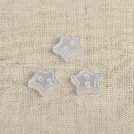 Button Star 2 holes