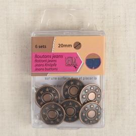 JEANS BUTTON 20mm*6 sets