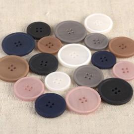 Organic Button, Resin, 4-Hole