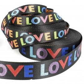 """WOVEN WEBBING """"LOVE"""""""