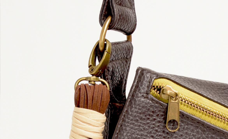 mousqueton, création, sac, pochette, besace, porte, monnaie, pratique