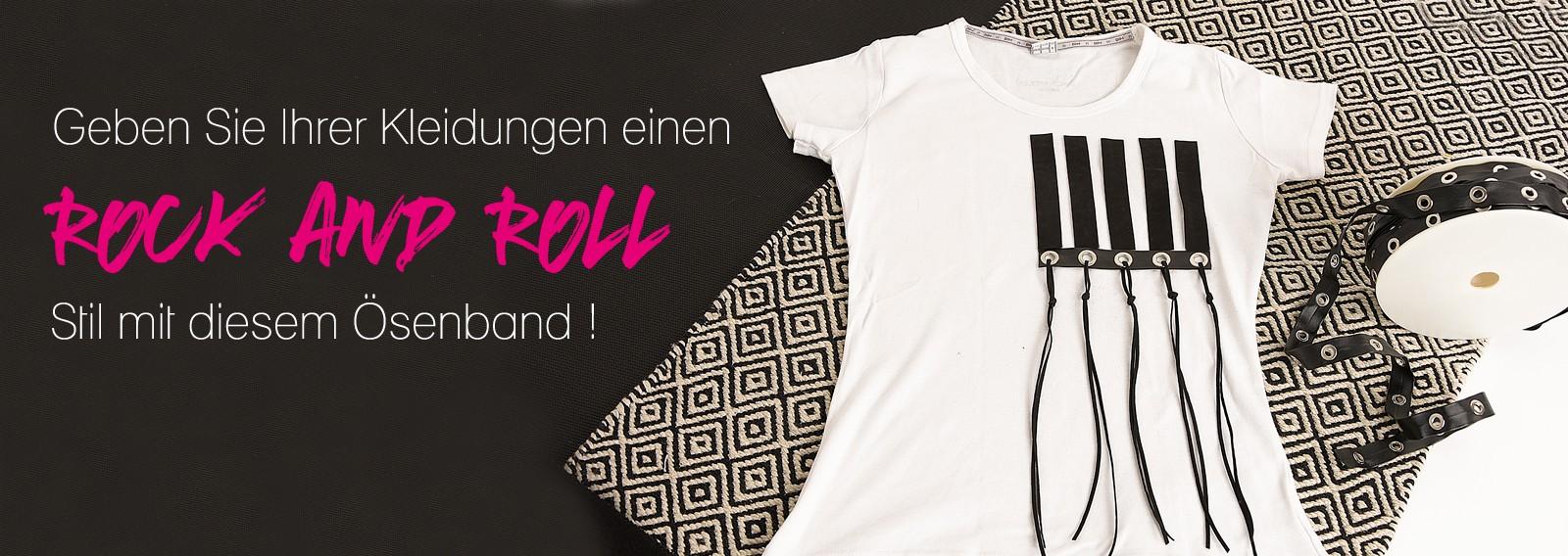 Geben Sie Ihrer Kleidungen einen Rock and Roll Stil mit diesem Ösenband !