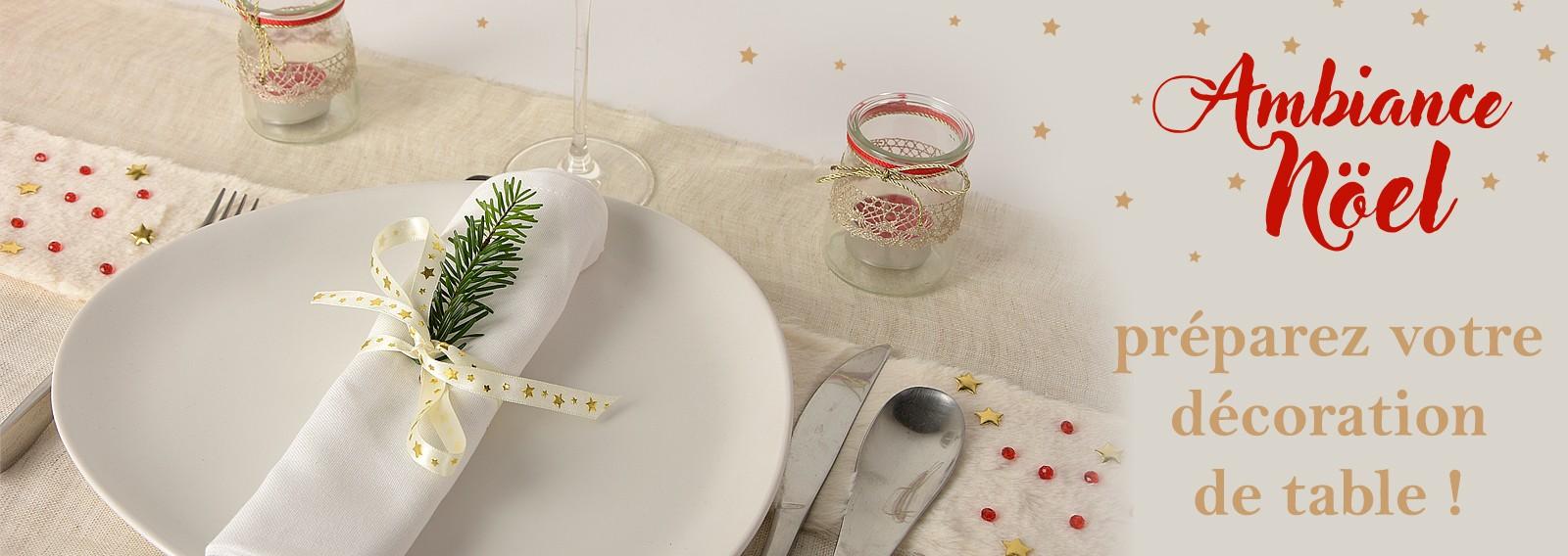 Ambiance Noël : Préparez votre décoration de table !