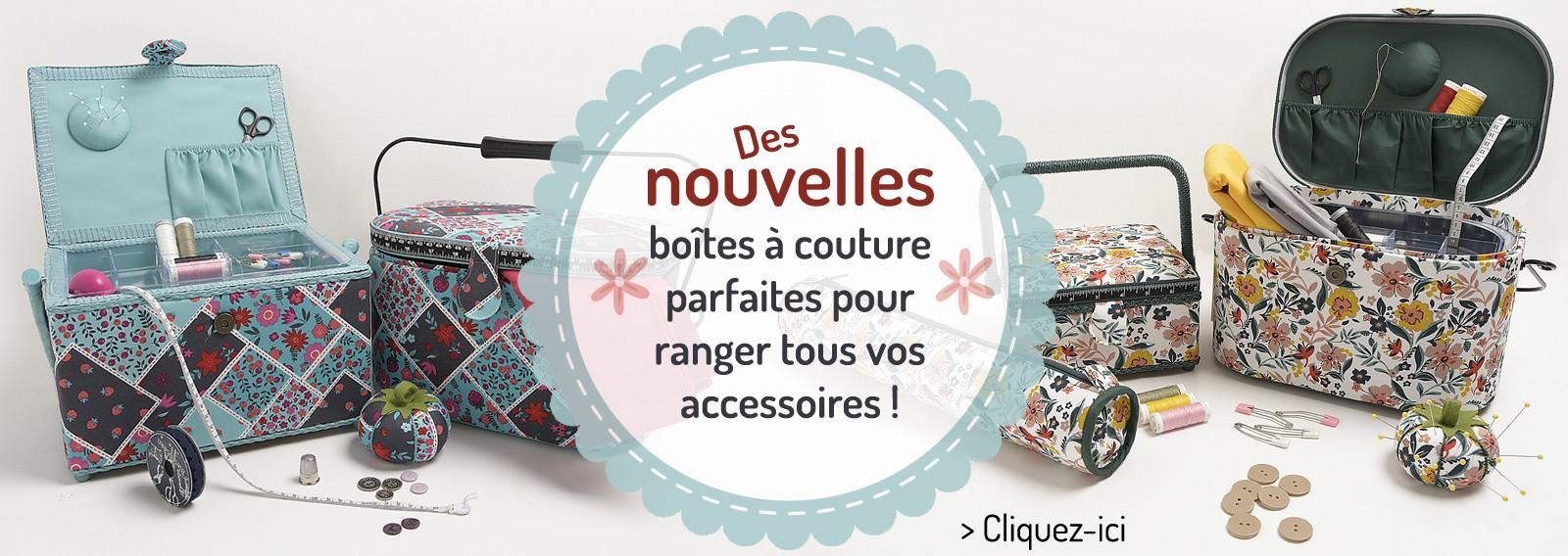 Découvrez nos nouveautés de boîte à couture, accessoires et porte-épingles