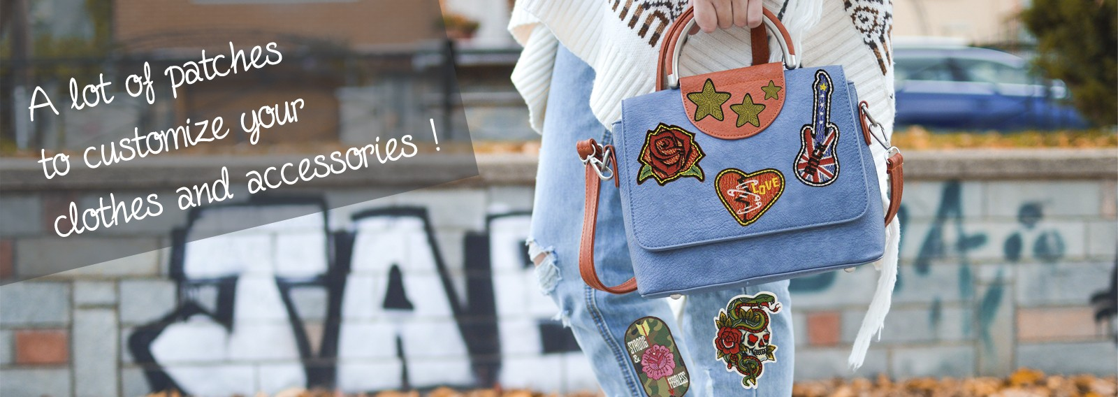 A lot of patches to customize your clothes and accessories !