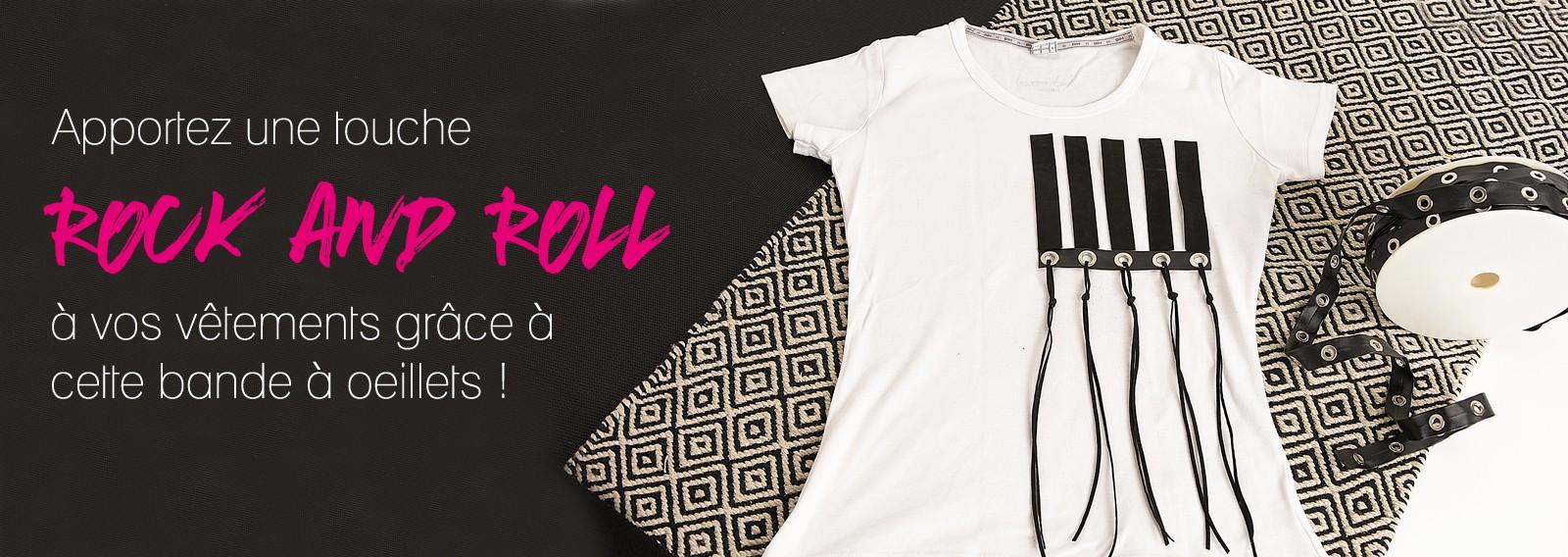 Apportez une touche Rock and Roll à vos vêtements grâce à cette bande à œillets !