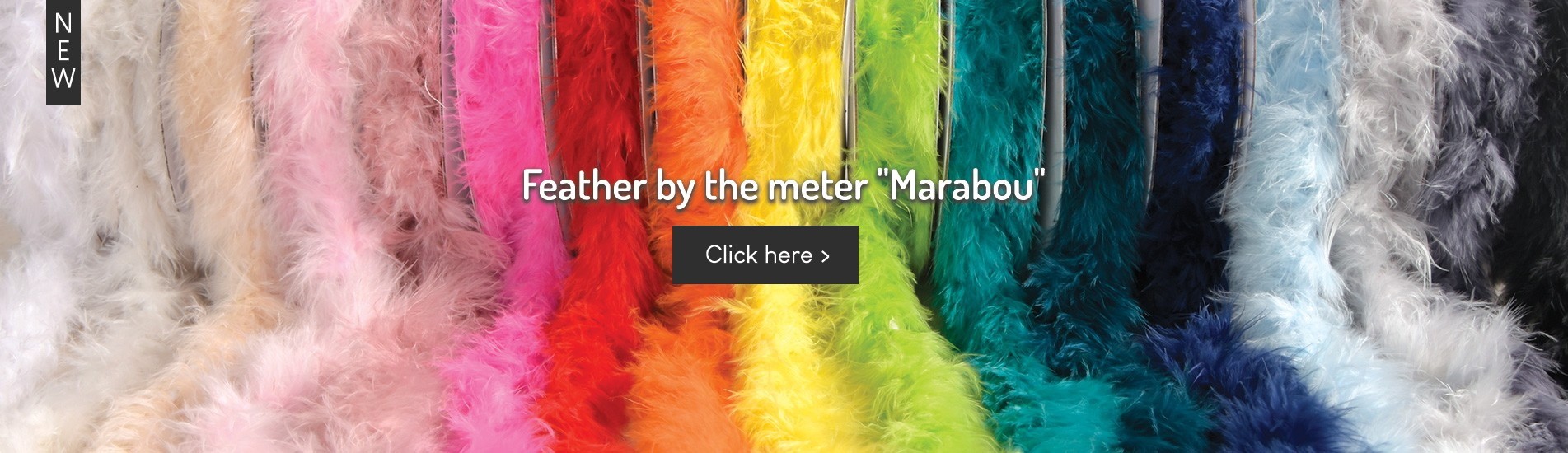 Marabout Feathers, By The Meter
